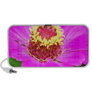 Pink and Yellow Zinnia Flower iPod Speaker