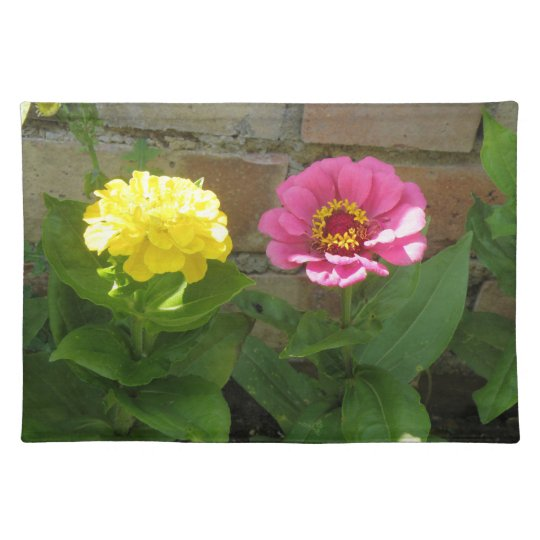 Pink and Yellow Zinnias Placemat