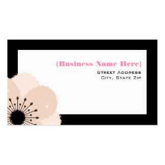 Pink Anemone All Purpose Business Card