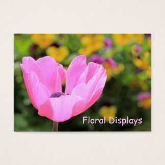 Pink Anemone Business Card