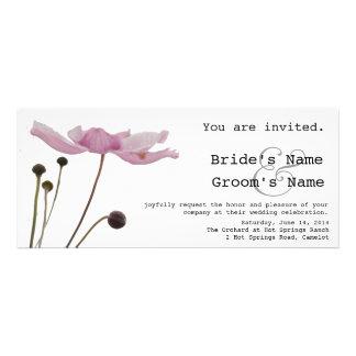Pink Anemone Custom Wedding Invitation