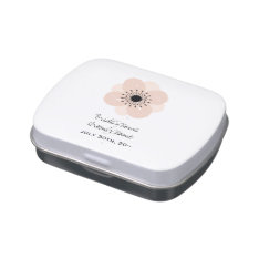 Pink Anemone Wedding Candy Tin at Zazzle