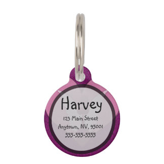 Pink Angel and Heart Pet Name Tag