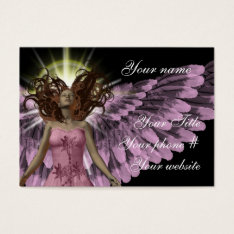 Pink Angel Business Card Template at Zazzle