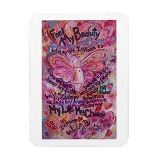 Pink Angel Cancer Poem Art Magnet