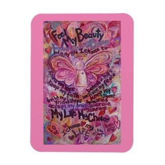 Pink Angel Cancer Poem Art Magnets