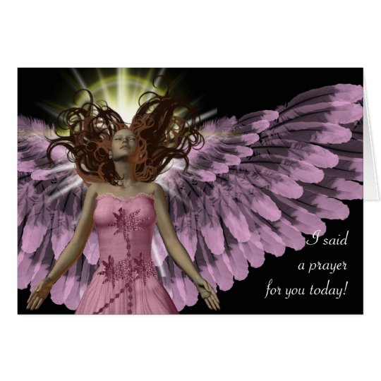 Pink Angel Card