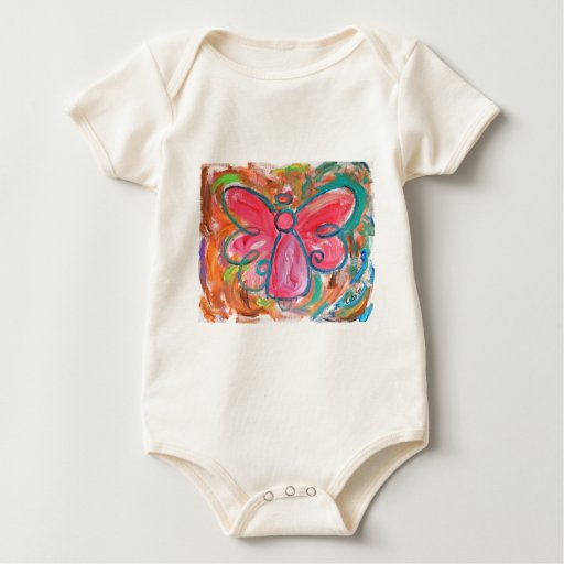 pink angel for fall leaves baby bodysuit
