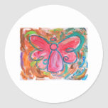 pink angel for fall leaves sticker