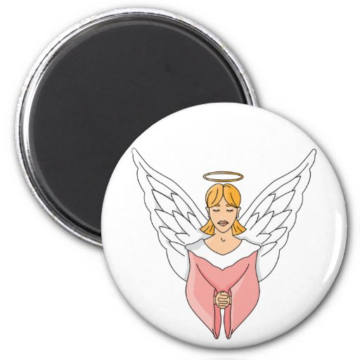 Pink Angel Fridge Magnet