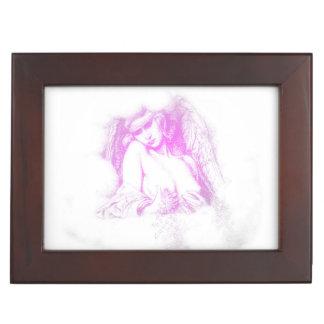 Pink Angel in the Clouds keepsake box
