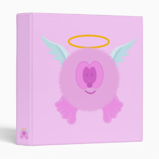 Pink Angel Pom Pom Pal Binder