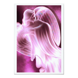 Pink Angel Psalm 50:15 Prayer Card