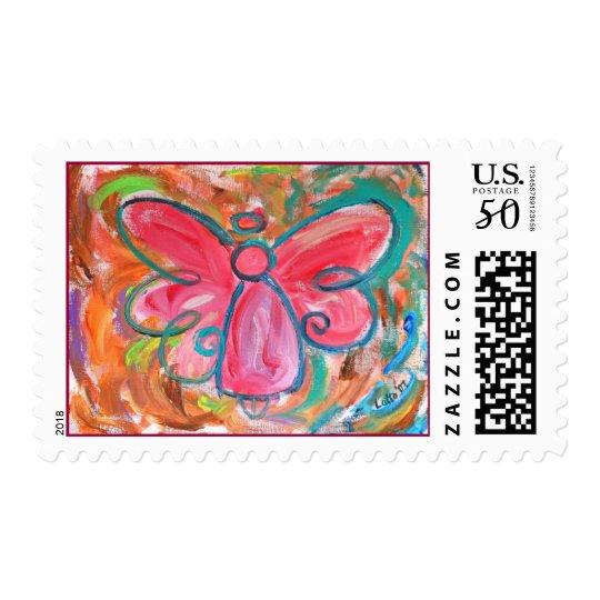 Pink Angel Stamp