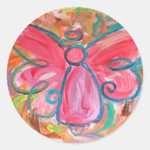 Pink Angel Sticker