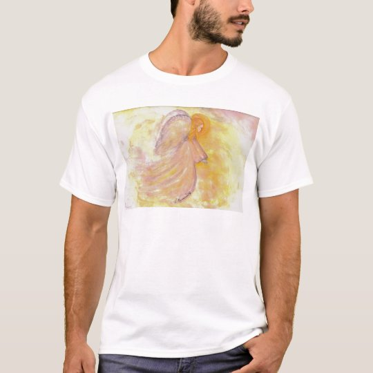 Pink Angel Watercolor Painting T-Shirt