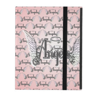 Pink Angels Background with Wings and Halo iPad Cover