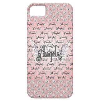 Pink Angels Background with Wings and Halo iPhone SE/5/5s Case