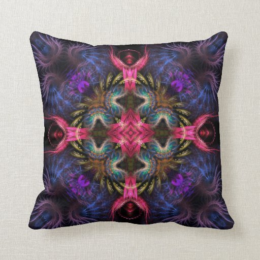 Pink Angels Purple Wings Fantasy Cushion Pillow