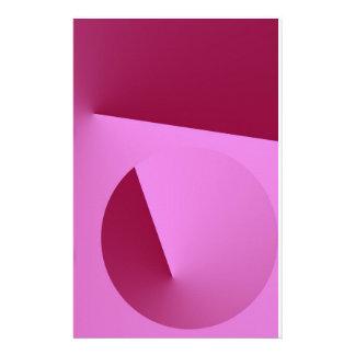 Pink Angle Stationery Design