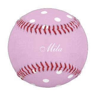 Pink Angora Custom Baseball