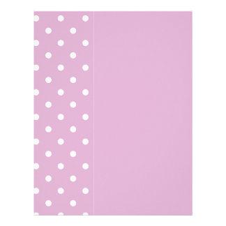 Pink Angora Polka Dot Letterhead
