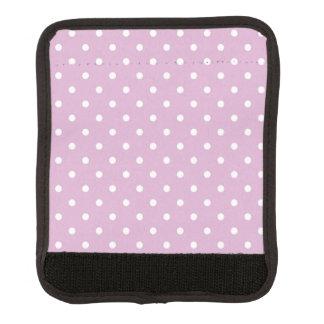 Pink Angora Polka Dot Luggage Handle Wrap