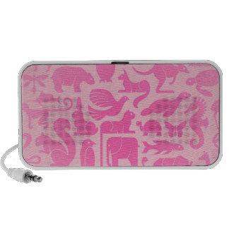 Pink Animal Kingdom Pattern Travelling Speakers