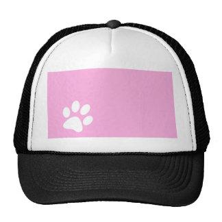 pink animal pet paw print hat