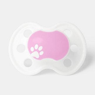 pink animal pet paw print baby pacifier