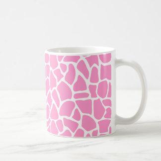 Pink Animal Print Giraffe Pattern Coffee Mug