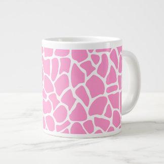 Pink Animal Print Giraffe Pattern 20 Oz Large Ceramic Coffee Mug