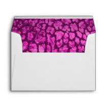 Pink Animal Print Gold Envelope