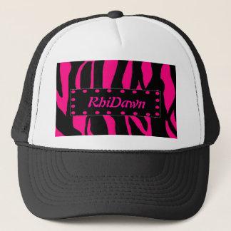 Pink Animal Print Hat