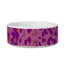 Pink animal print texture of leopard bowl