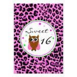 Pink Animalier Sweet 16 Birthday Invitation