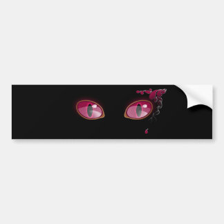 Pink Anime Eyes Teardrop Bumper Sticker