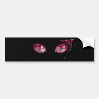 Pink Anime Eyes Teardrop Bumper Stickers