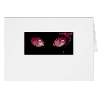 Pink Anime Eyes Teardrop Card