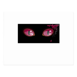 Pink Anime Eyes Teardrop Postcard