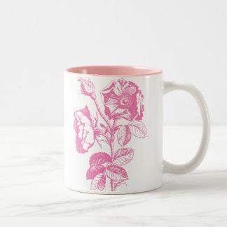 Pink Antique Rose Two-Tone Coffee Mug