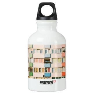 Pink Apartment Building, Uran Architecture Aluminum Water Bottle