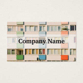 Pink Apartment Building, Uran Architecture Business Card