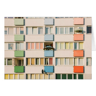 Pink Apartment Building, Uran Architecture Card