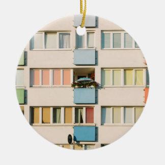 Pink Apartment Building, Uran Architecture Ceramic Ornament
