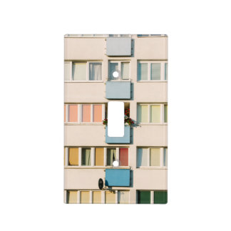 Pink Apartment Building, Uran Architecture Light Switch Cover