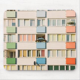 Pink Apartment Building, Uran Architecture Mouse Pad