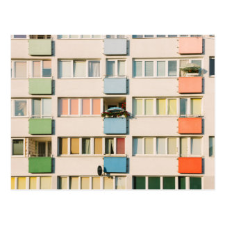Pink Apartment Building, Uran Architecture Postcard