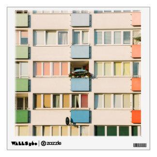 Pink Apartment Building, Uran Architecture Wall Sticker