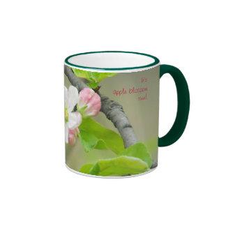 Pink Apple Blossom, It'sapple blossomtime! Coffee Mugs